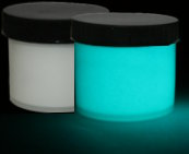 Aqua Glow in the dark paint