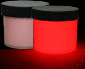 Red Glow in the dark paint